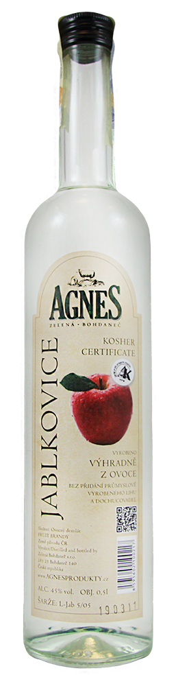 Agnes Jablkovice 45% (kosher) 0,5L