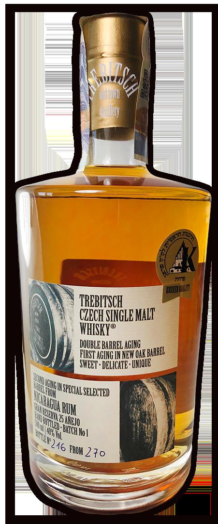 TREBITSCH Czech Single Malt Whisky NICARAGUA RUM 40 % 0,5L