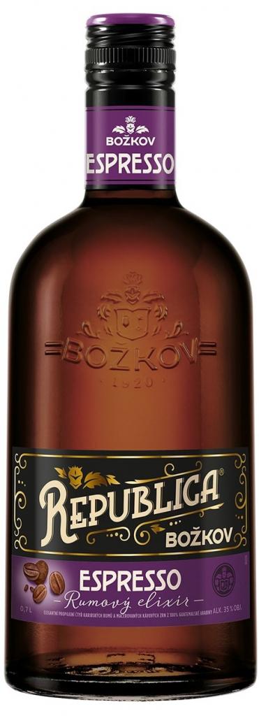 Božkov Republica Espresso Rumový Elixír 35% 0,5L