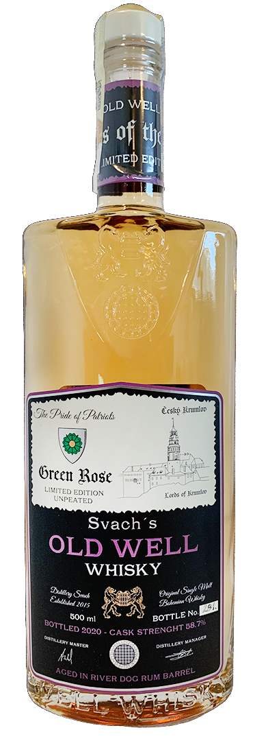 Svach´s OLD WELL whisky GREEN ROSE 58,7% 0,5L