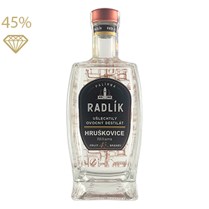 Palírna Radlík Hruškovice Williams 45% 0,5L