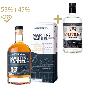 MARTIN´S BARREL 3YO 53% 2020 + B:BARREL sladový destilát 45% 0,7L