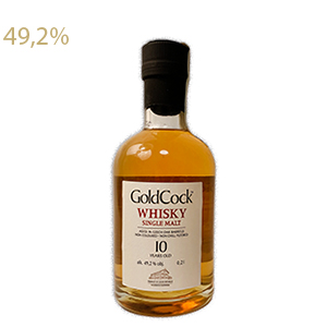 Gold Cock 10yo single malt whisky 49,2% 0,2L