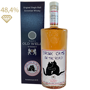 Svach´s OLD WELL whisky DRUNK CATS ON THE ROAD 48,4% 0,5L