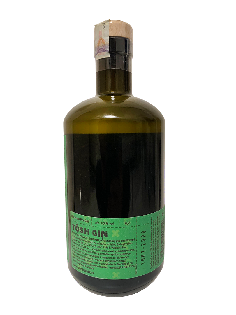 TÖSH GIN BLACK STUFF 45% 0,7L