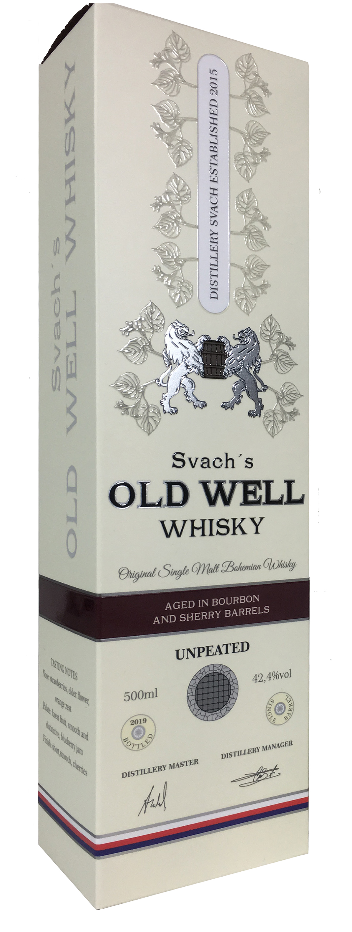 Svach´s OLD WELL whisky bourbon and sherry barrels 42,4% 0,5L