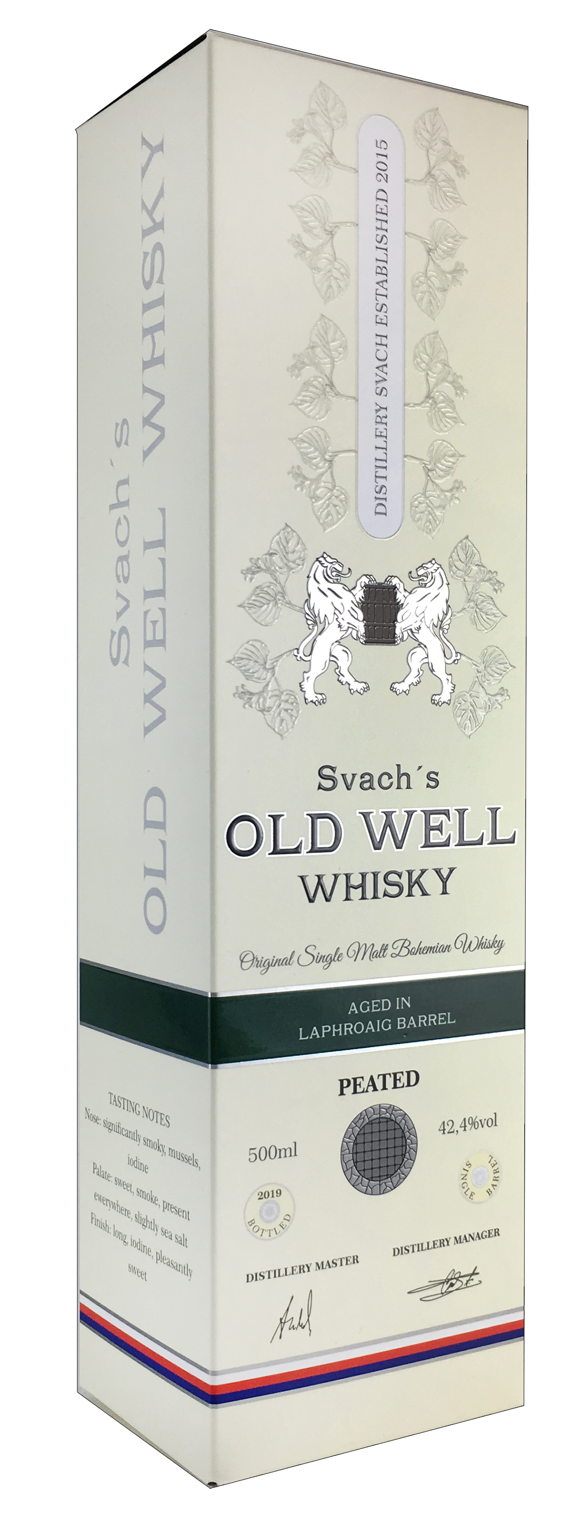 Svach´s OLD WELL whisky aged in Laphroaig barrel 42,4% 0,5L