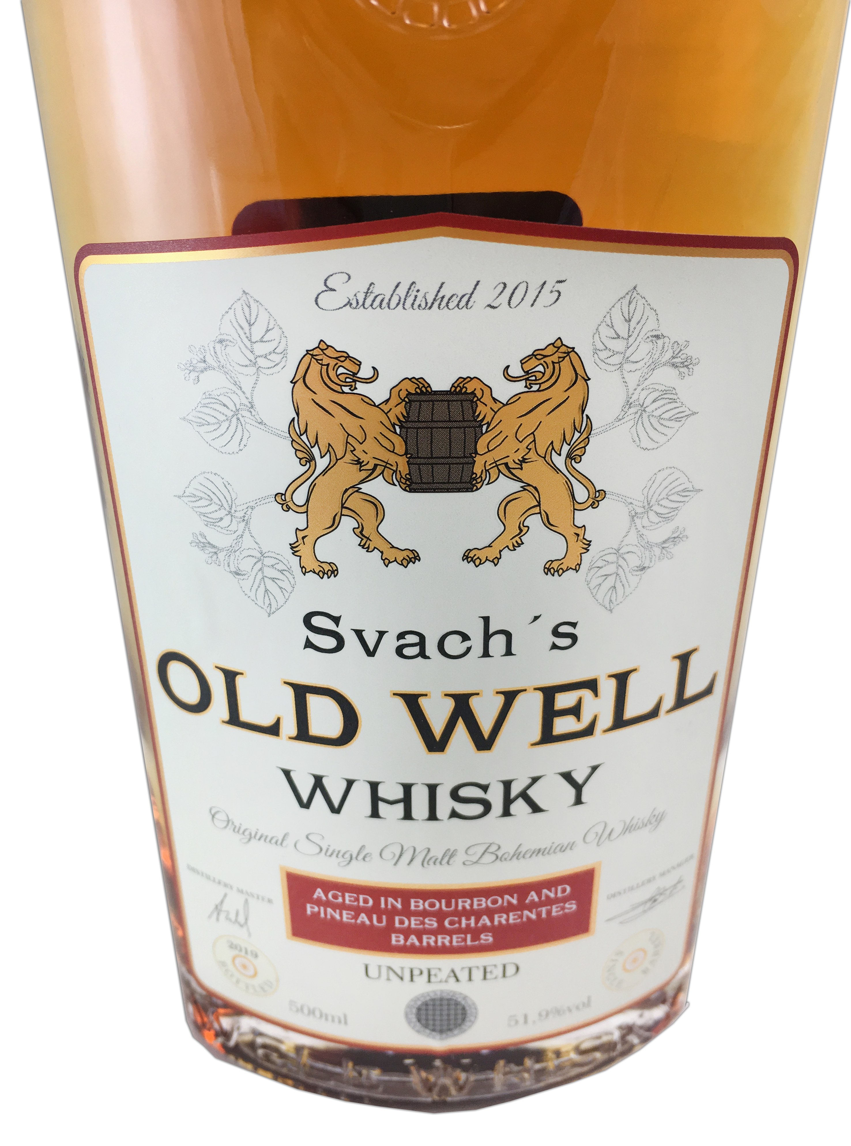 Svach´s OLD WELL whisky Bourbon and Pineau des Charantes barrels 51,9% 0,5L