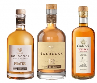 Gold Cock 3pack (Peated, 10yo, 2008) 3*0,7L